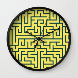 Labyrinth maze n° 17 Wall Clock