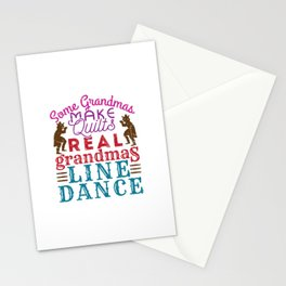 Real Grandmas Line Dance Stationery Cards