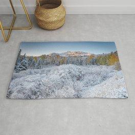 Early Winter In The Rockies Telluride Colorado Mountain Sunrise Landscape Rug