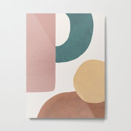 Abstract Earth 1.2 - Painted Shapes Metal Print