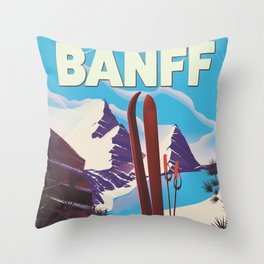 Banff National Park in Alberta Canada Throw Pillow