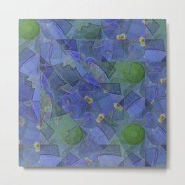 Blue Bloom Kaleidoscope Metal Print