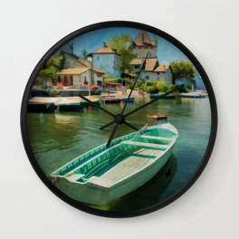A Yvoire France Wall Clock