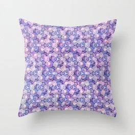 Botanical In Blue Throw Pillow