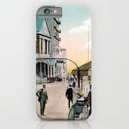 Pier Gates Llandudno Wales 1890 iPhone Case