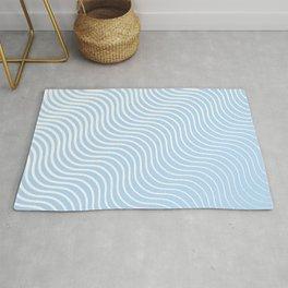 Whisker Pattern - Light Blue & White #285 Rug