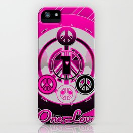 One Love (Pink) iPhone Case