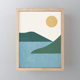 Sunny Lake - Abstract Landscape Framed Mini Art Print