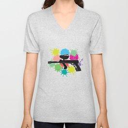 Paintball Gun Marker Paintball Player Gift Unisex V-Neck