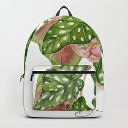 Begonia plant and text Backpack