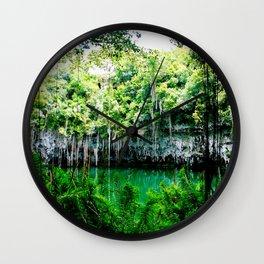 Travel Photography : Los Tres Ojos - Dominican Republic Cave Wall Clock
