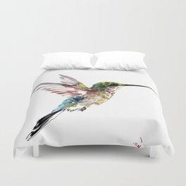 Hummingbird, bird art minimalist bird design hummingbird lover Duvet Cover