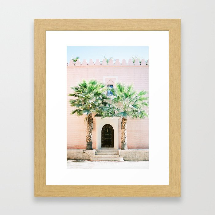"""Travel photography print """"Magical Marrakech"""" photo art made in Morocco. Pastel colored. Gerahmter Kunstdruck"""