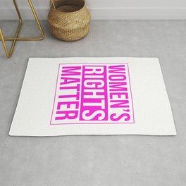 Womens Rights Matter Empowerment Design Rug