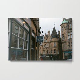 Edinburgh, Travel Photography, Street photography Metal Print