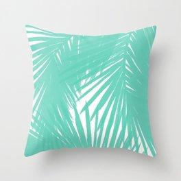 Palms Seafoam Throw Pillow