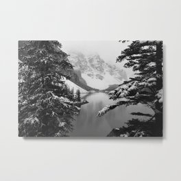 The View (Black and White) Metal Print