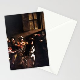 Caravaggio The Calling of Saint Matthew Stationery Cards