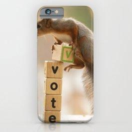 squirrel vote iPhone Case