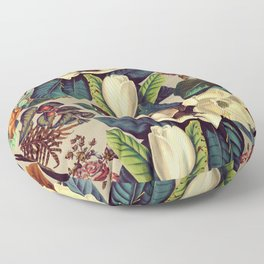 FLORAL AND BIRDS XXI-II Floor Pillow