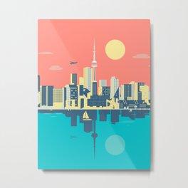 Toronto City Skyline Art Illustration - Cindy Rose Studio Metal Print