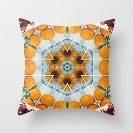 sunflower squeeze Throw Pillow
