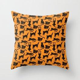 Cats Sketch Throw Pillow