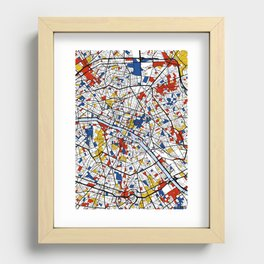 Paris Mondrian Recessed Framed Print