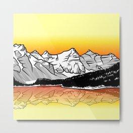 Moraine Lake Banff Metal Print
