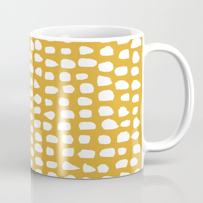 Dots (Mustard Yellow) Coffee Mug