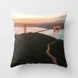 Golden Gate Bridge At Dawn - San Francisco, CA Throw Pillow