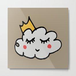 April showers king cloud Sand #nursery Metal Print