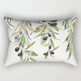 Olive Branch Watercolor  Rectangular Pillow
