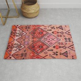N52 - Pink & Orange Antique Oriental Traditional Moroccan Style Artwork Rug