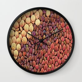 Pattern design for mix positive lentils Wall Clock
