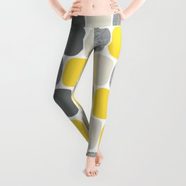 Wonky Ovals in Yellow Leggings