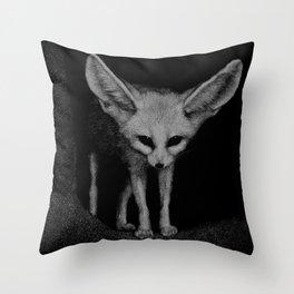 Sahara, a fennec fox Throw Pillow
