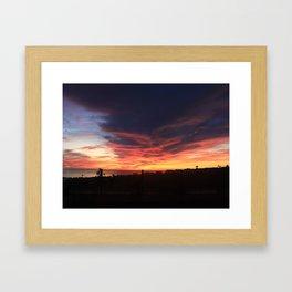 RAGING SUNSET Framed Art Print