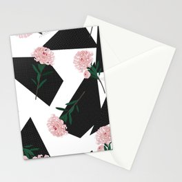 Polka Dots And Flowers Stationery Cards