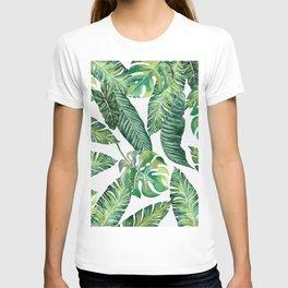 Jungle Leaves, Banana, Monstera #society6 T-shirt