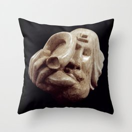 Blowing the Shofar by Shimon Drory Throw Pillow