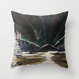 Spectacular Aurora sighting Throw Pillow