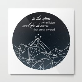 To The Stars - Version 2 Metal Print