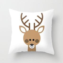 Minimal Deer Throw Pillow