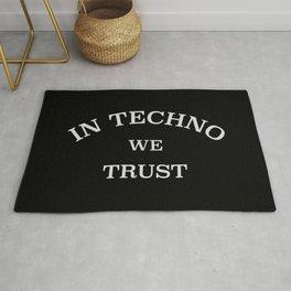 In Techno We Trust Rug