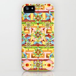 Rainbow Carousel Starburst iPhone Case