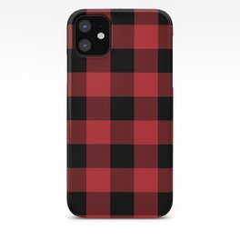 Red and Black Buffalo Plaid Lumberjack Rustic iPhone Case