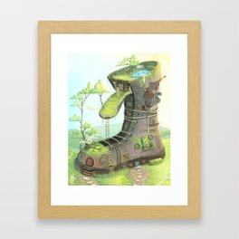 There was an old woman... Framed Art Print
