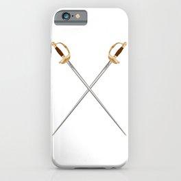 Crossed Infantry Swords iPhone Case