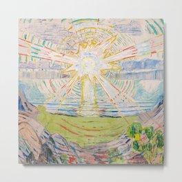 "Edvard Munch ""The Sun"", 1910–11 Metal Print"